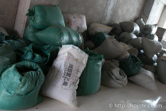 The warehouse of pu-erh tea