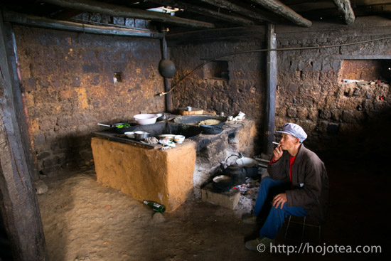 kitchen of minority people in yunnan
