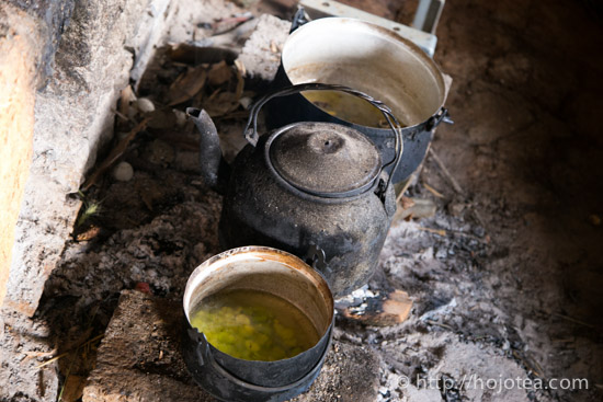 Yunna minority people use traditional kitchen