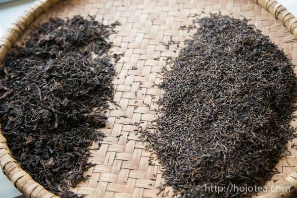 2種類のプーアル熟茶
