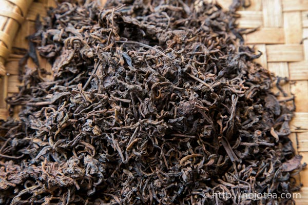 The mao-cha of ripe pu-erh tea