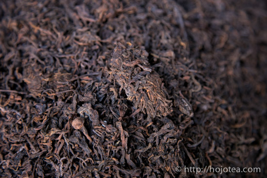 Cha-tou of pu-erh ripe tea