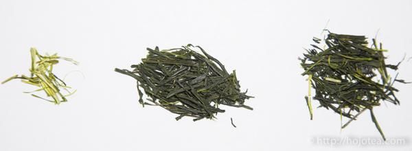 お茶の茎の重要性