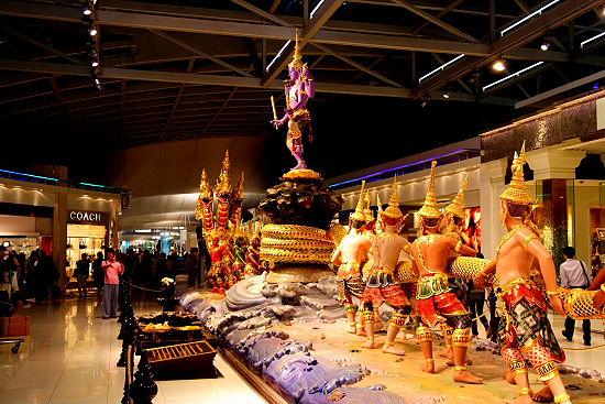 タイ空港の展示物