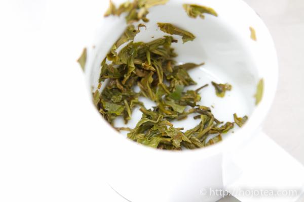 The tea leaf of Darjeeling first flush