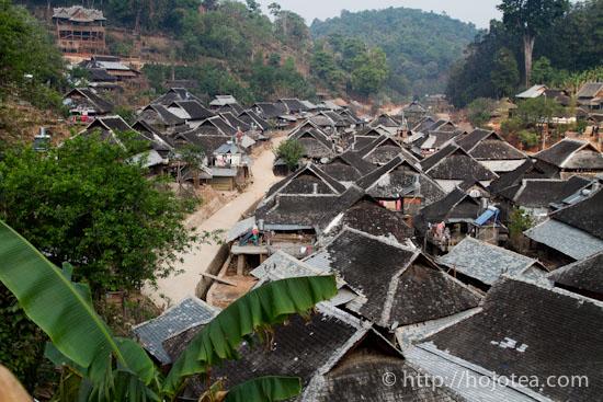 minority village in jing mai