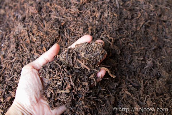 プーアル熟茶の毛茶