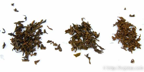 紅茶茶葉の品質比較