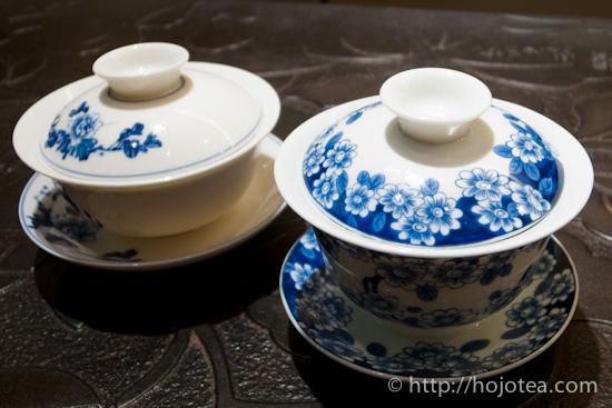 白磁とボーンチャイナの蓋碗