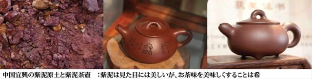 中国宣興の紫泥原土と紫泥茶壷