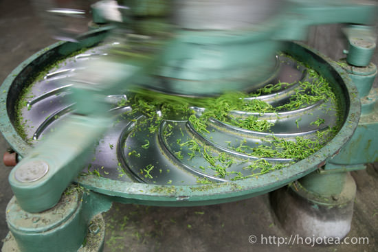 rolling process of green tea