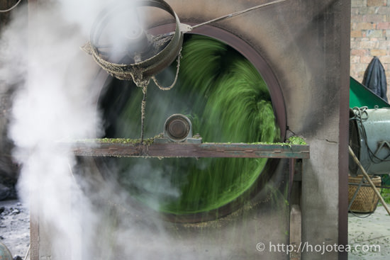 pan-frying process for green tea