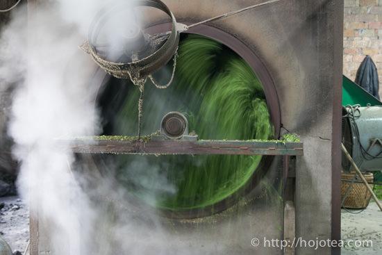 pan-frying process for green tea