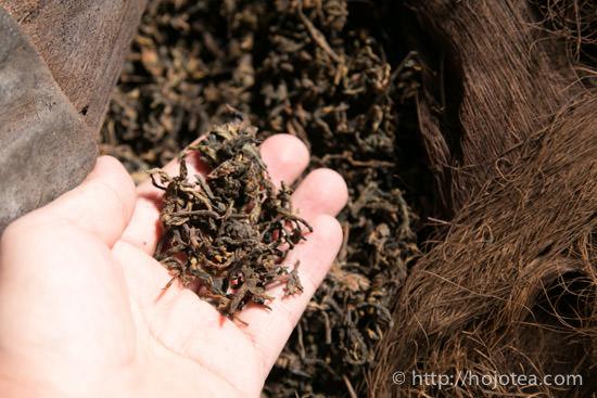 プーアル熟茶の一次発酵