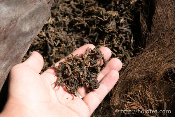 ripe pu-erh tea process