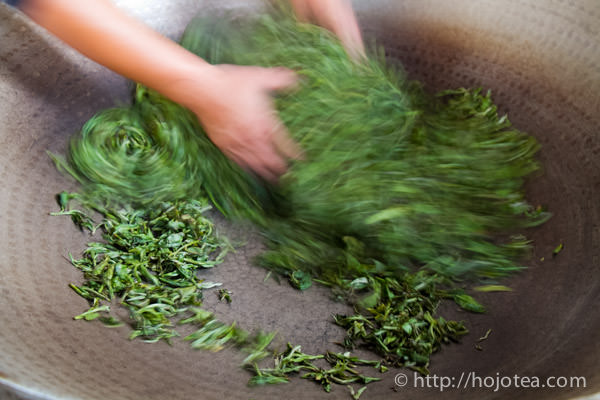 pan-frying process for pu-erh tea