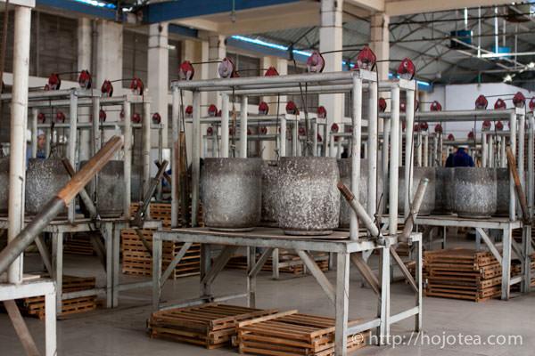 pu-erh tea factory