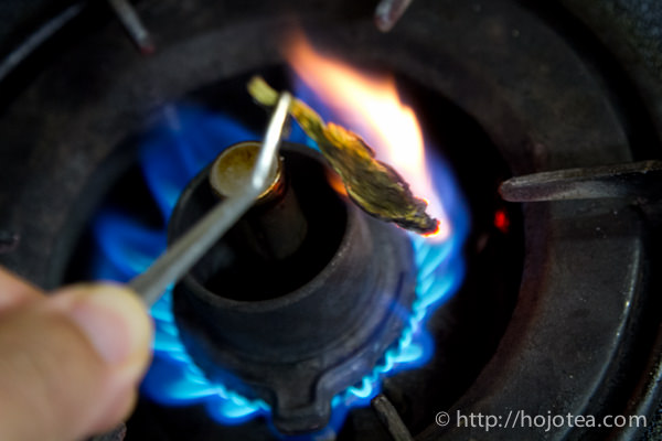 茶葉の焼成実験