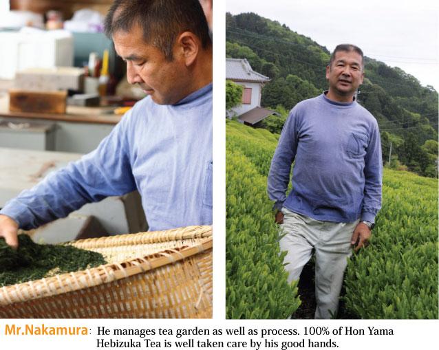 Mr.Nakamura who produce Hon Yama Hebizuka