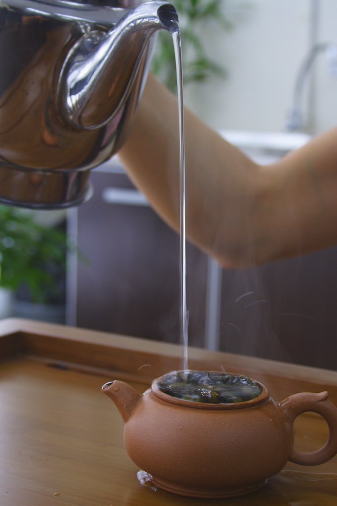 You can feel the aroma through the upcoming steam.