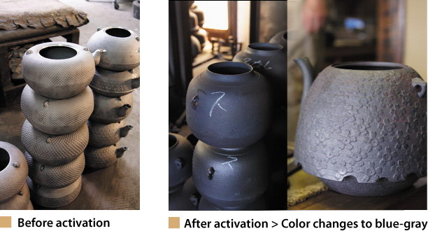 Activation of cast iron kettle