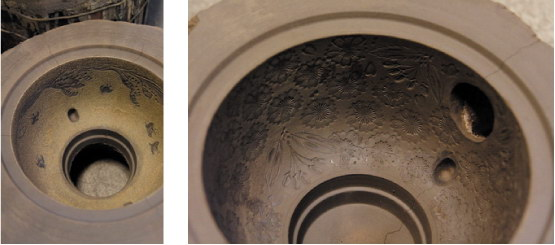 picture pattern of cast iron kettle