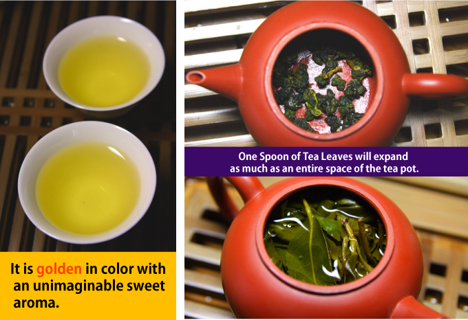 One Spoon of Tea Leaves will expand as much as an entire space of the tea pot.