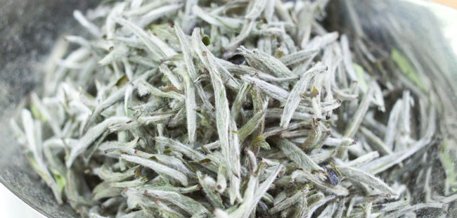 High End White Tea is in Jade Color