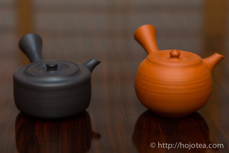還元焼成と酸化焼成の茶器
