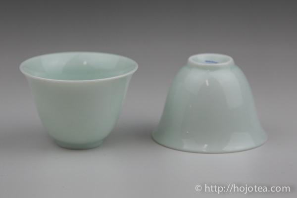台湾製青白秞の茶器