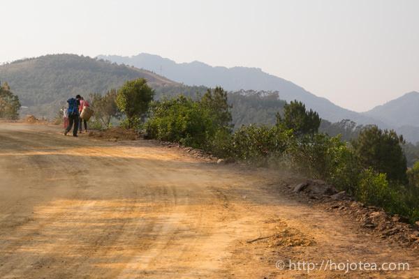 雲南省、プーアル茶の産地の村