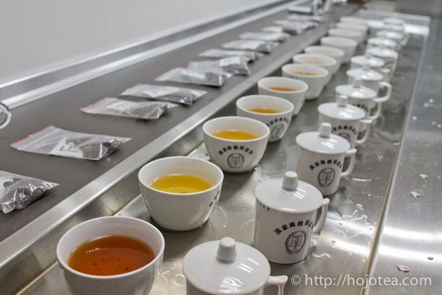 お茶の鑑定