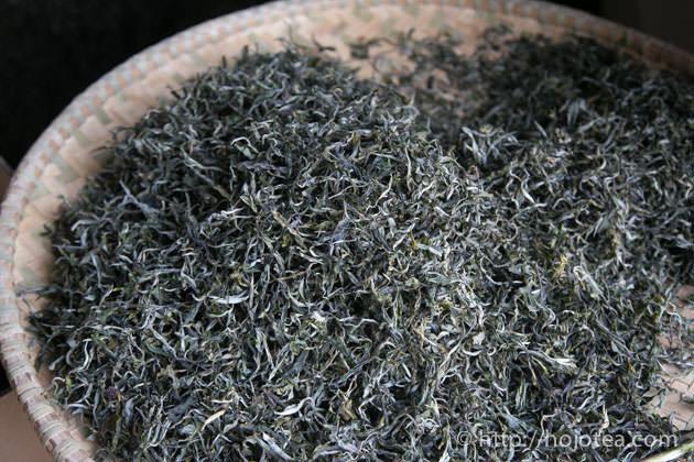 プーアル茶の乾燥