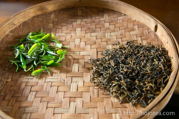 紅茶と宮廷グレードのプーアル熟茶のブレンド茶